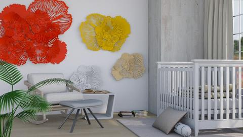 Flowered Wall - Modern - Kids room  - by millerfam