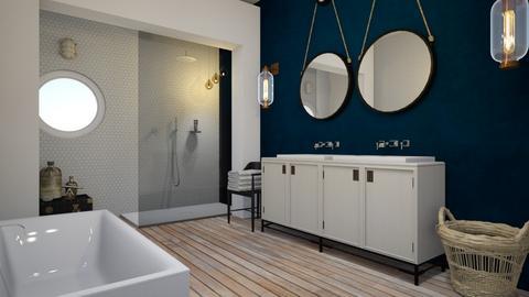 navy - Vintage - Bathroom  - by Ripley86