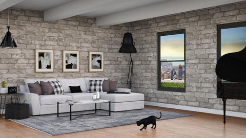 Urban living room_proj - Living room  - by Ashlee_wx