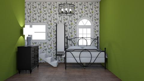 Green dandelion bedroom  - Vintage - Bedroom  - by sophiefleah