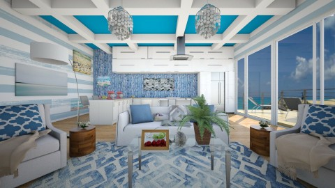 Blue By The Beach - Eclectic - Living room  - by bgref