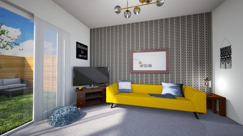 Yellow Living Room - Living room  - by Kirstin Reay