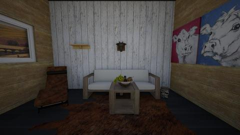 Cow design - Living room  - by hannahelise