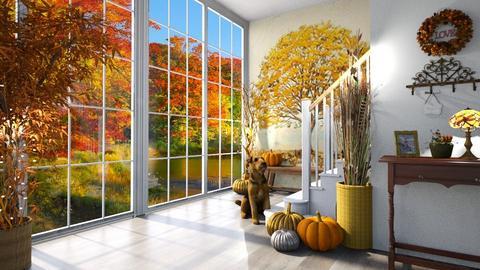Autumn Patterns Hallway - by  krc60
