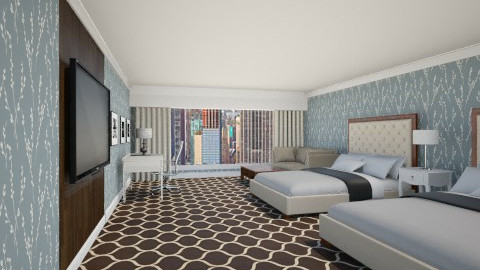 Hotel Room - Bedroom - by jasonpicker