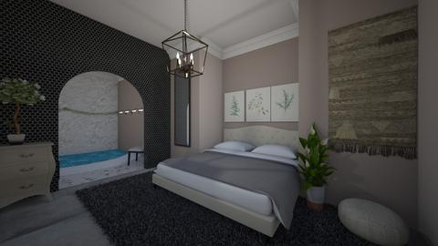 Room with swimming pool - Bedroom  - by Meghan White