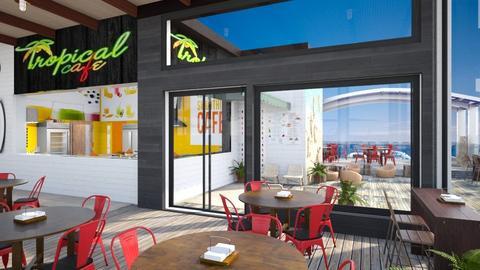 Beach Resort Cafe - Dining room  - by Amyz625