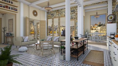 Design 421 ExPat Apt in Paris - Living room  - by Daisy320