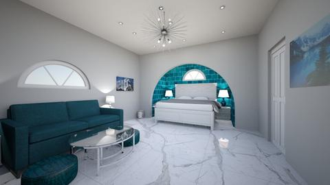 Metal Turquoise Bedroom - Glamour - Bedroom - by Morgieqwerty