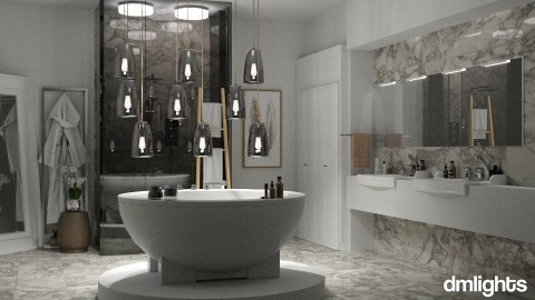 dreamy bathroom - Bathroom  - by DMLights-user-991288