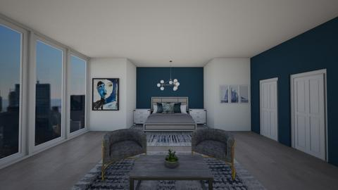 Modern Blue - Modern - Bedroom  - by Agamanta