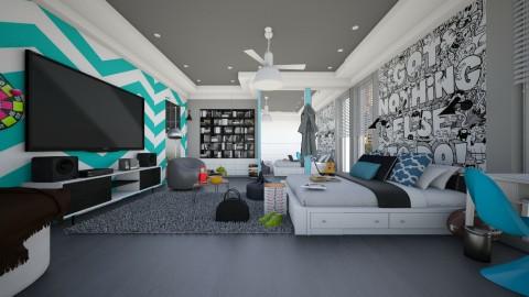 bedrooom - Modern - Bedroom  - by Evangeline_The_Unicorn