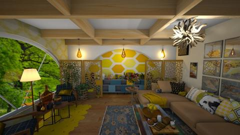 bee inspired living - Living room  - by JazzyMarie3339