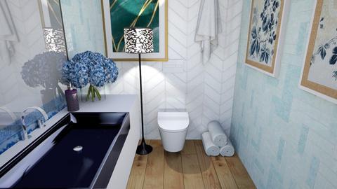 Arty bathroom - Modern - Bathroom  - by slothsarethebest