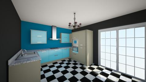 Eccentric kitchen - Retro - Kitchen  - by sarahbatty