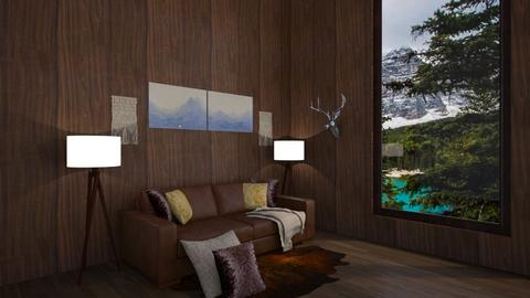 Woodland hangout - Rustic - Living room  - by BohoCHicc