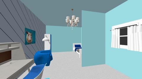 Blue room - Bedroom  - by ebae2131