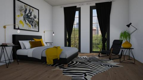 Mustard - Bedroom  - by Tuija