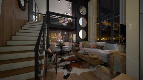 Loft - Living room  - by Maria Helena_215