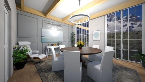 dining blue - Dining room - by dena15
