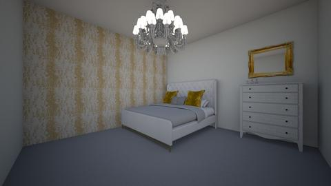Simple White_Gold - Bedroom  - by xen100