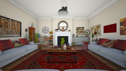 Dawley - Classic - Living room  - by camilla_saurus