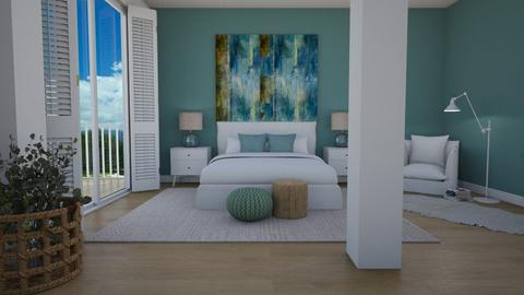 Ocean inspired - Bedroom  - by Tuija