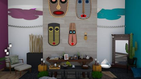 Ancestor Wall - Garden  - by Tiany Rice