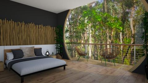 bamboo bedroom - Bedroom  - by madaline