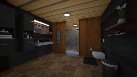 Modern Rustic cabin  - Rustic - Bathroom - by amakabeke