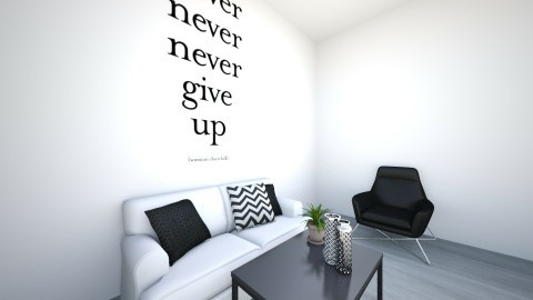 never give up - Living room - by Daniela Martins