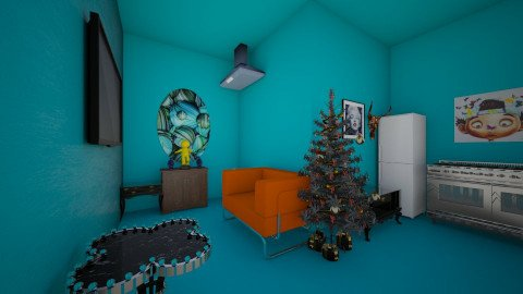 totally blue - Modern - Living room - by Cocoa_Cat
