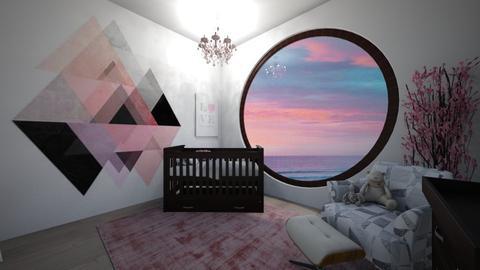 pink nursery - Kids room  - by avawrightthewrightone