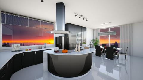 Sunset Kitchen - Kitchen - by KurehaKano