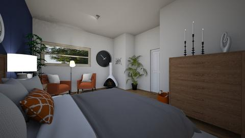 orange geometric bedroom - Eclectic - Bedroom  - by taliabr