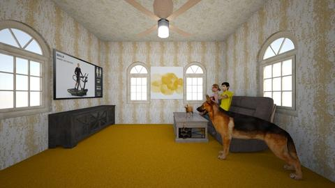 OrangeApartment - Classic - Living room  - by KyukiTheD3m0n