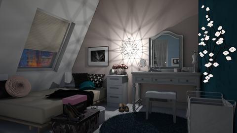 Fashion Room - Feminine - Bedroom  - by ckwoodcook23