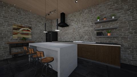 industrial kitchen - Kitchen  - by erladisgudmunds