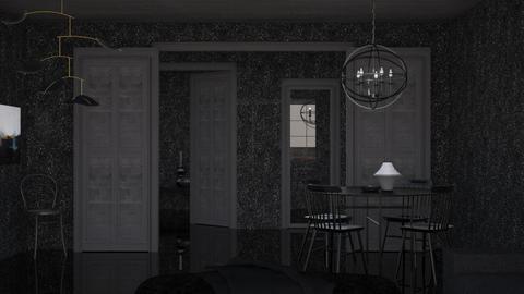 Darkness - Minimal - Dining room  - by HenkRetro1960
