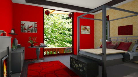Red - Bedroom - by christinasolari