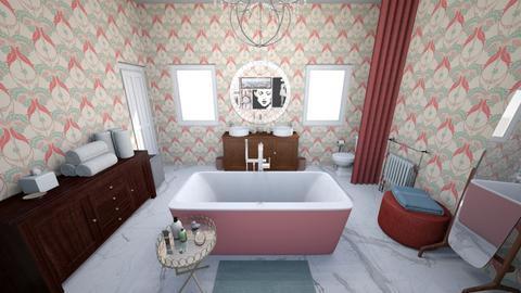 Glam Pink Bathroom - Glamour - Bathroom  - by KajsaRain