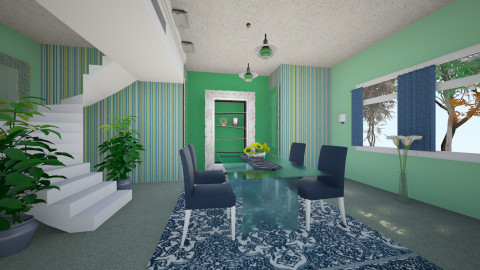 ZeeL - Retro - Dining room  - by Saj Trinaest