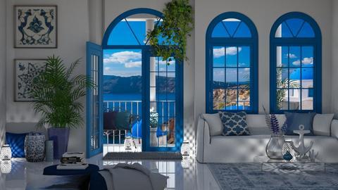 Greek Living - Living room  - by KittyKat28