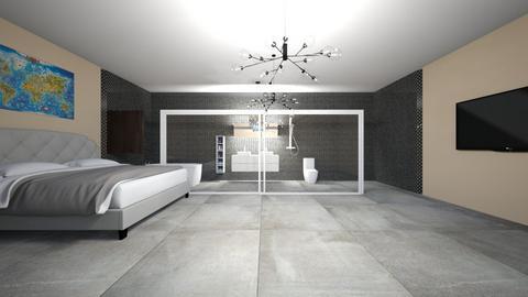 Bedroom and Bathroom - Modern - Bedroom  - by Charginghawks