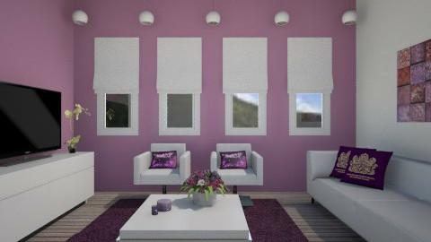 Roxo - Living room  - by Joana Sousa
