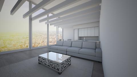 Open Concept White Room - by Anvitha