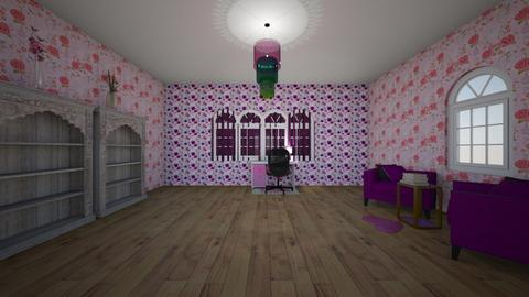 Pink and purple room - Office  - by PandaPrincess