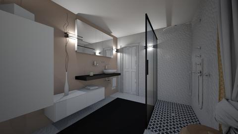 CLAU baie proiect 5 - Bathroom  - by Claudia Ilisan