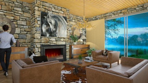 Canuck Ranch - Eclectic - Living room - by Theadora