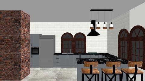 kuchnia wymiar - Kitchen  - by magda0201